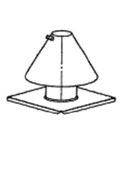 Green IQ ve ecoTEC Serisi Baca İçi Montaj Çıkış Şapkası (Alüminyum yuvarlak flanş)