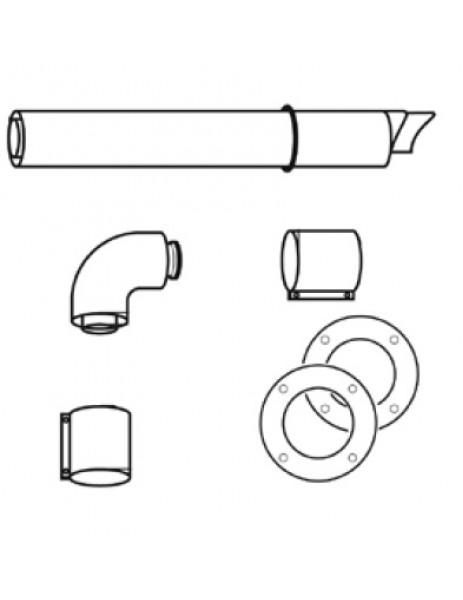 TurboMAG Şofben Serisi Yatay Hava Akım Boru Seti (75 cm Ø 60/100)